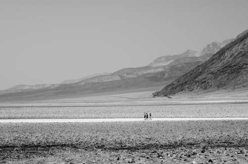 Black And White Desert Scene Photo