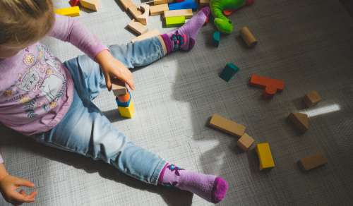 Building Blocks In A Playroom Photo