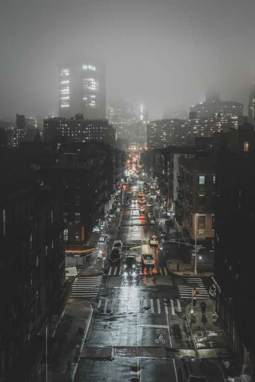 Dark And Foggy City Photo
