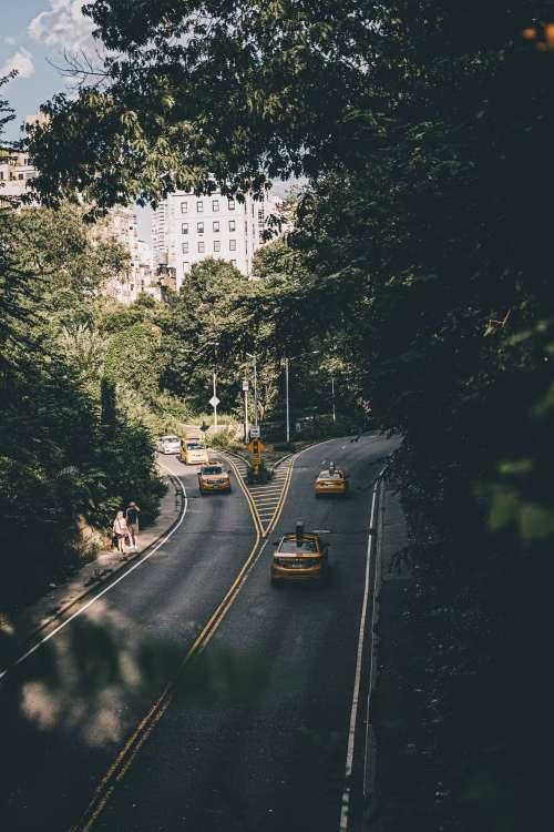 Divergent Urban Roads Photo