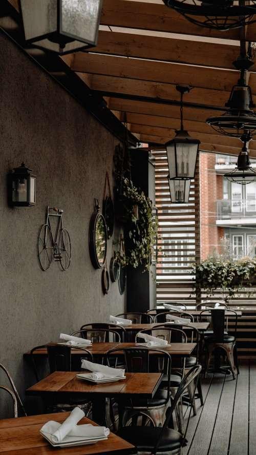 Empty Restaurant Awaits Diners Photo