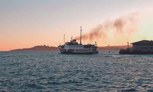 Ferry Sails At Dawn Photo