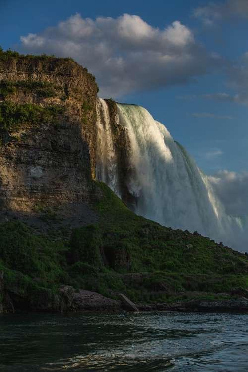 Last Light On Waterfall Photo