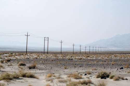 Power Lines Scattered Across The Horizon Photo