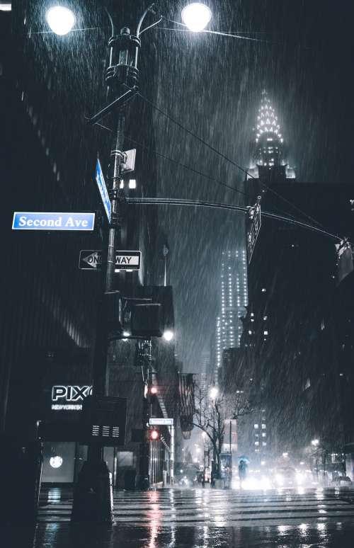 Rain In New York Photo