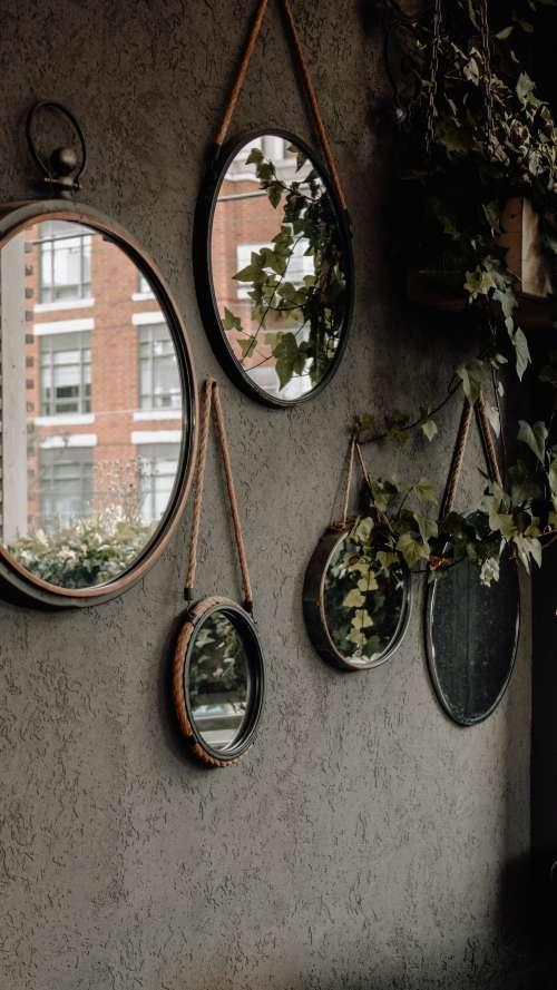 Round Mirrors On Wall Photo