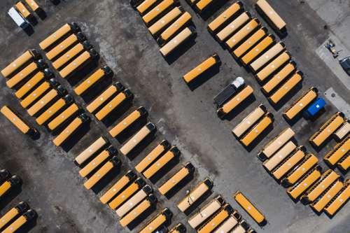 School Bus Parking Lot Photo