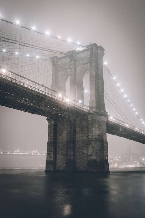Spooky Brooklyn Bridge Photo