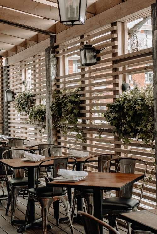 Wooden Decor In Restaurant Photo