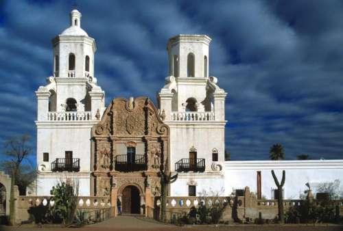 Mission San Xavier del Bac near Tucson, Arizona