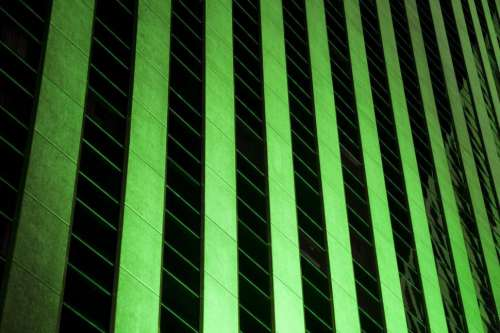 glowing green building background