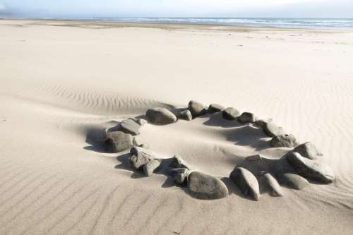 Fire Ring on the Beach