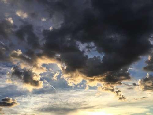Darkening Sky with Setting Sun