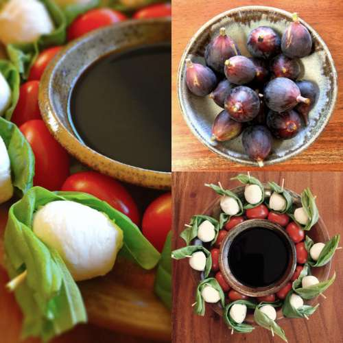 Composite of Healthy Appetizers