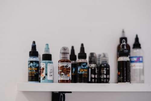 Tattoo ink bottles