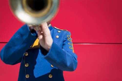 Band Trumpet Player Free Photo
