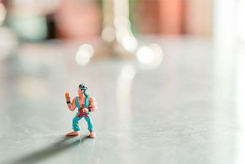 Karate Figurine Free Photo
