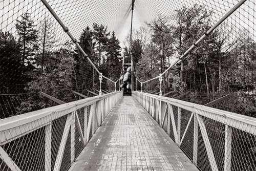 Pedestrian Suspension Bridge Free Photo
