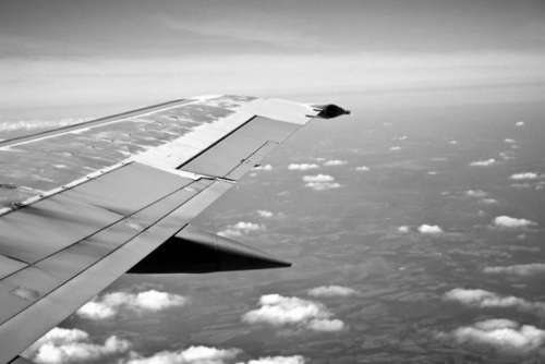 Flying Aeroplane Wing Free Photo
