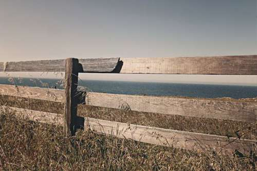 Brown Fence in California Free Photo