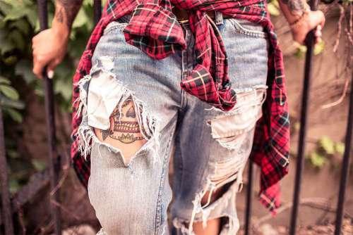 Plaid Shirt & Jeans Free Photo
