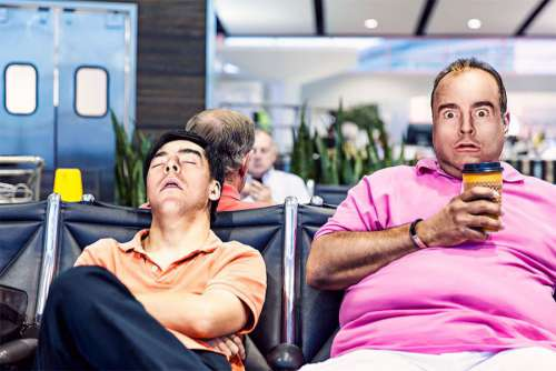 Tired Traveler Free Photo