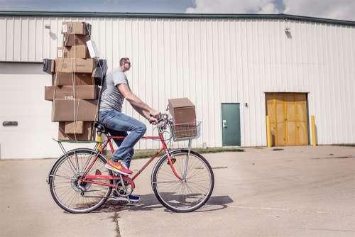 Man Riding Bike Free Photo