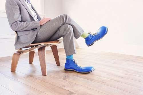 Large Blue Shoes Free Photo