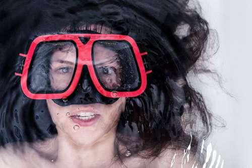 Woman Snorkelling Free Photo