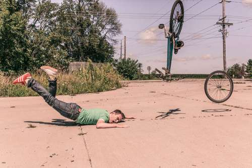 Bike Crash Free Photo