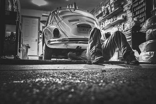 Mechanic Under Car Free Photo
