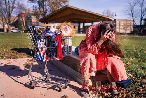 Sad and Homeless Free Photo