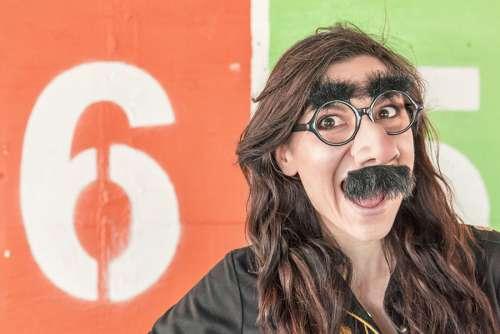 Woman Mustache Free Photo