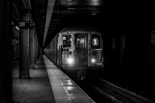 Subway Train Arrival Free Photo