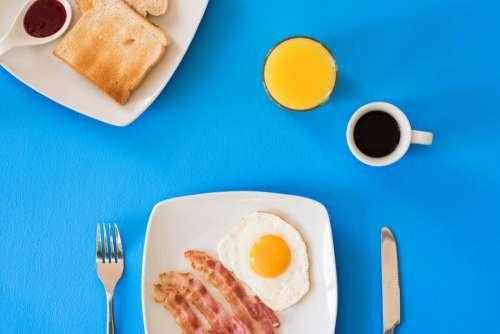 Eggs, Bacon & Toast Breakfast
