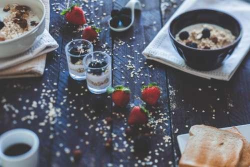 Muesli & Strawberries Healthy Breakfast