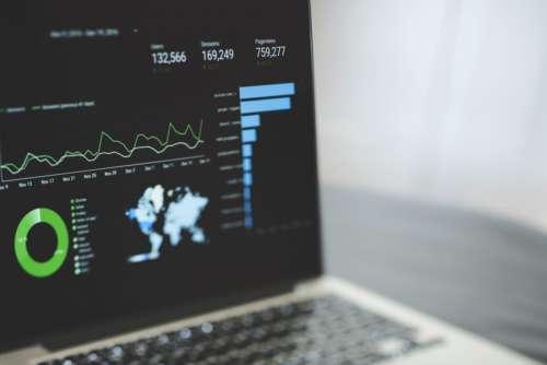 Analytics on MacBook Laptop
