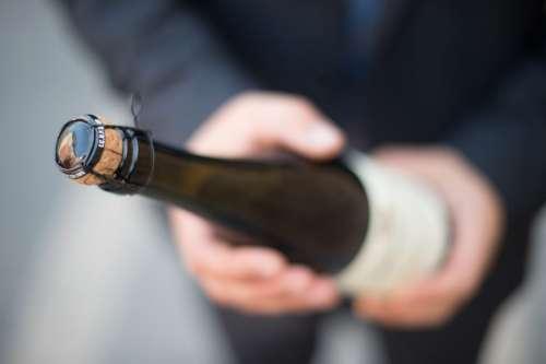 Man Holding Champagne Wine