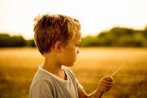 Boy Child at Sunset