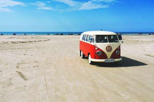 Camper Van on Beach