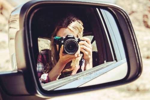 Photographer in Car