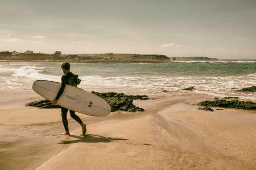 Cornwall Surfer Beach