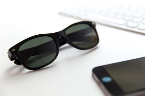 Sunglasses on Office Desk