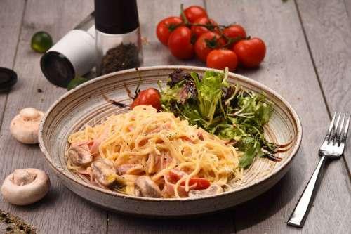 Pasta Dinner on Table