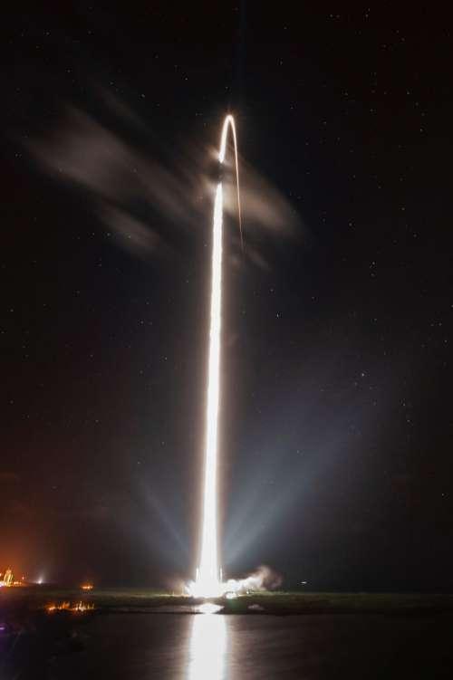 Space Rocket at Night