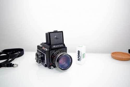 Vintage Camera on Desk