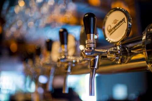 Beer Pumps in Bar