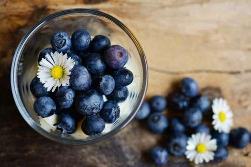 Blueberries & Flowers