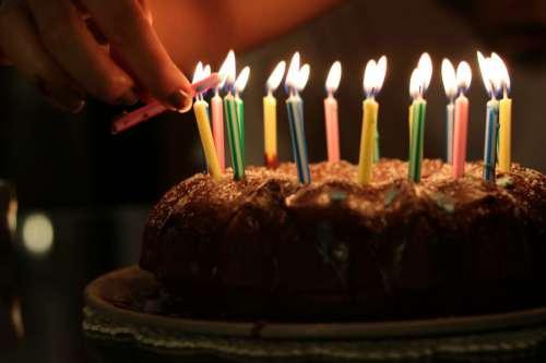 Birthday Cake with C&les