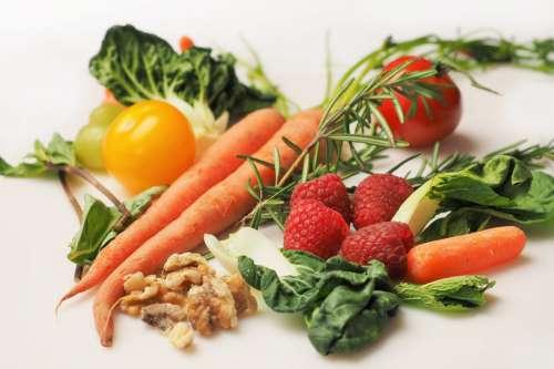 Carrots, Strawberries & Vegetables